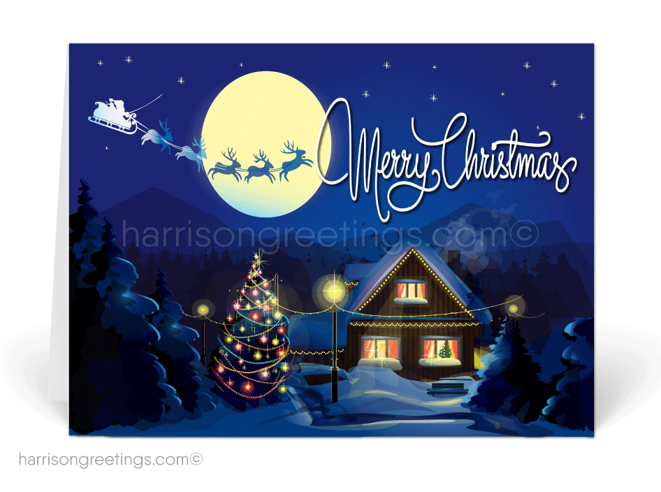 Unique Realtor Holiday Christmas Cards - Harrison Greeting Cards