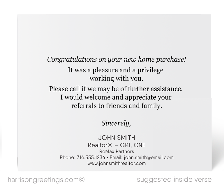 """Just Sold"" Thank You Note Cards for Realtors"
