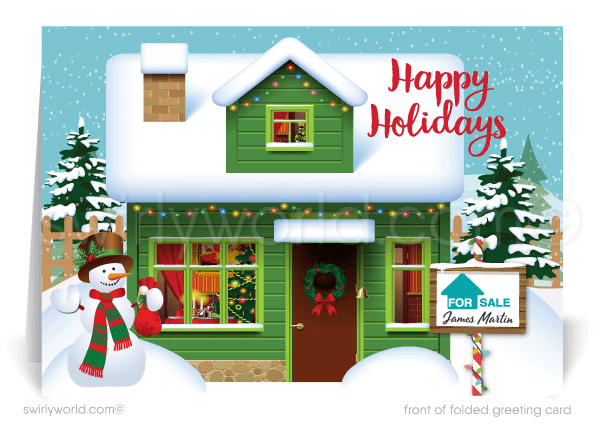 Client Holiday Christmas Greeting Cards for Realtors®