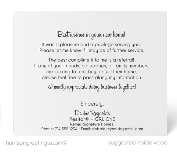 """Just Sold"" Realtor Thank You Note Cards"