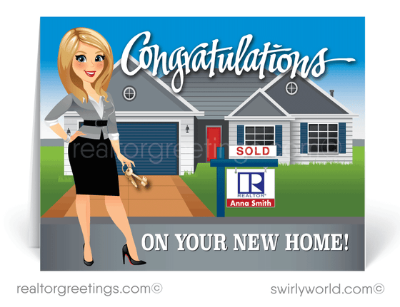 Congratulations On Your New Home Purchase Realtor® Cards