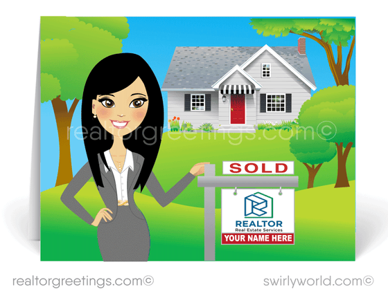 cute note cards for Asian realtors