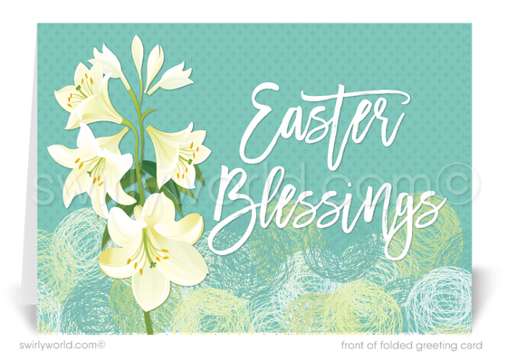 Religious happy Easter blessings greeting cards