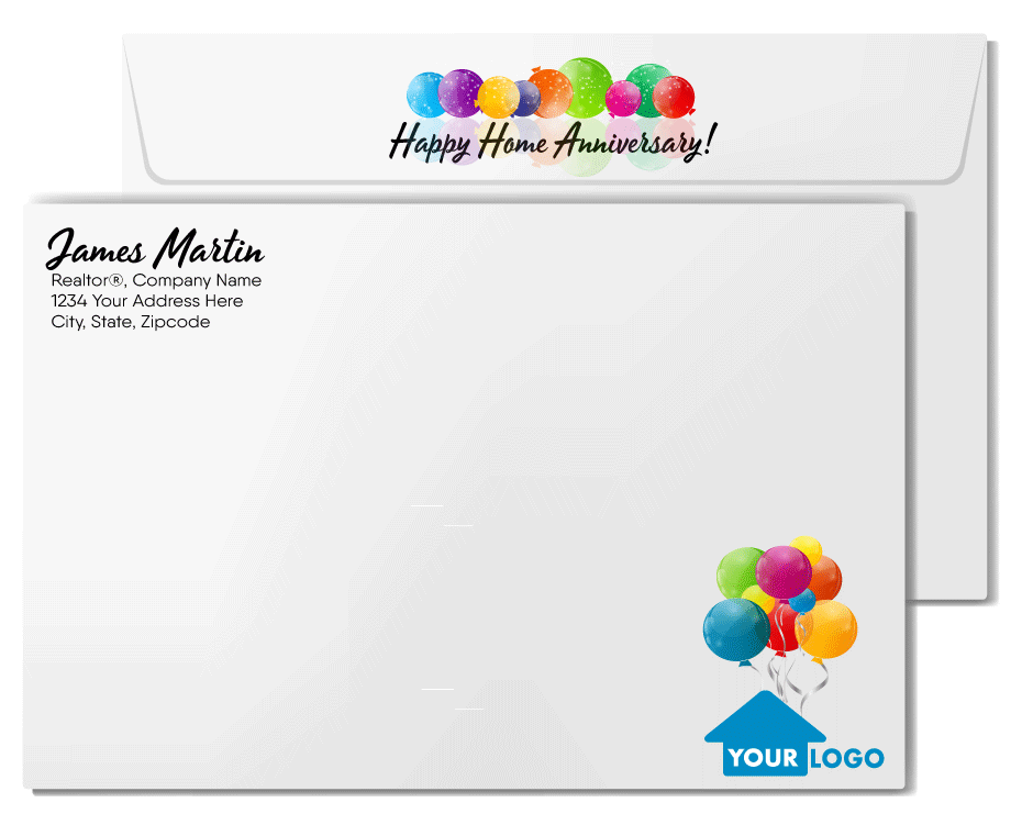 Happy Birthday to Your House Home Anniversary Cards for Realtors