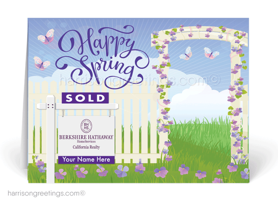 Realtor Happy Spring Greeting Cards for Clients