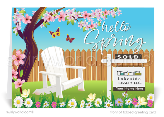Happy Spring Client Easter Cards for Real Estate Agents.