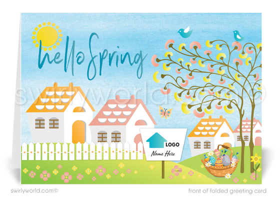 Realtor Happy Spring Easter Greeting Cards for Clients