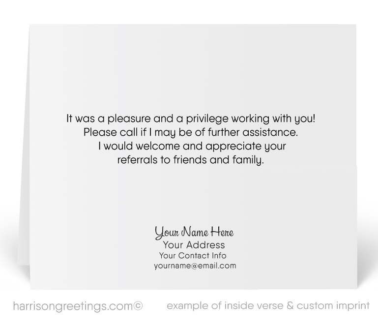 Modern House Thank You Note Cards For Realtors