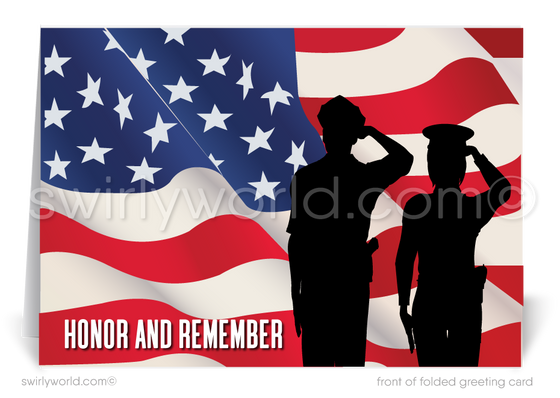 Honor Those Who Serve Happy Memorial Day Cards