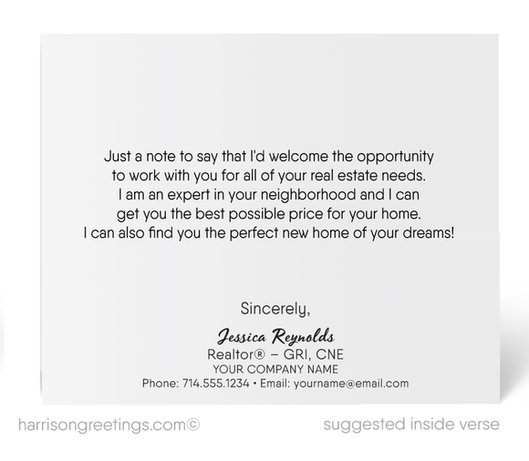 New Buyer Prospecting Marketing Note Cards for Realtors
