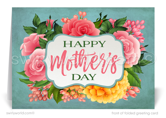 Business happy Mother's Day cards for customers and clients. Generic Mother's Day Cards for customers. Beautiful Mother's Day cards for mothers that are not your own.