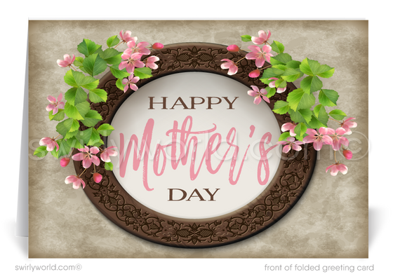 Rustic Vintage Happy Mother's Day Cards for Business