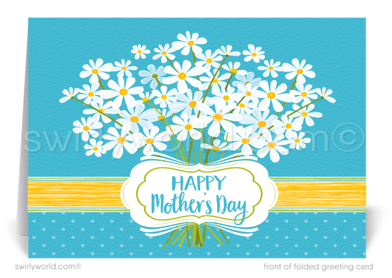 Beautiful business happy Mother's Day cards for customers.