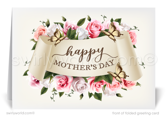 Beautiful business happy Mother's Day cards for clients