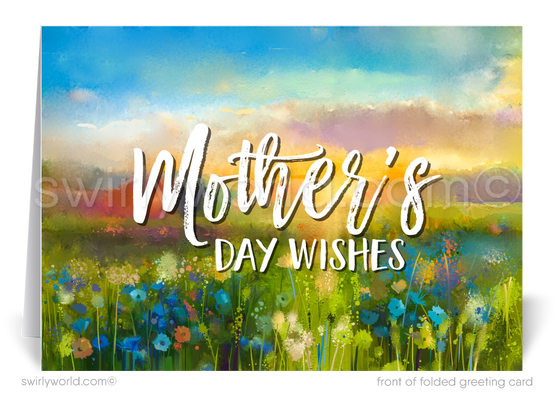 Beautiful watercolor business Mother's Day cards for clients and customers