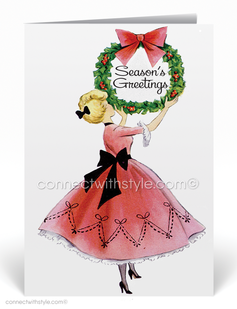 1950s Vintage Christmas Holiday Cards for Women