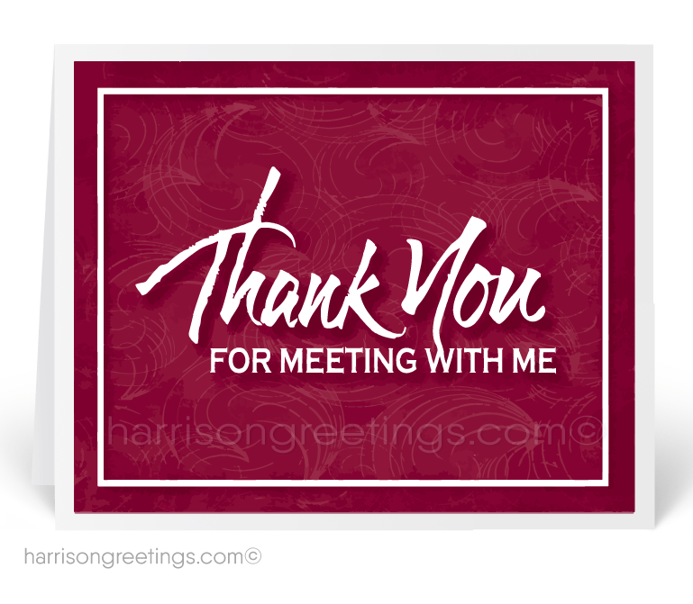 Thank You For Meeting With Me Client Cards