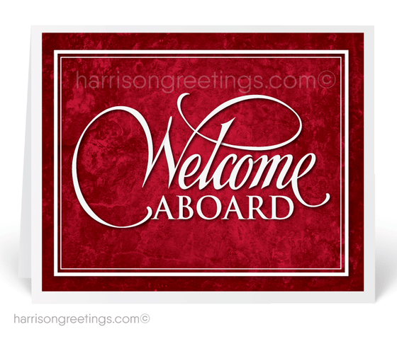 Welcome Aboard Greeting Cards for Clients