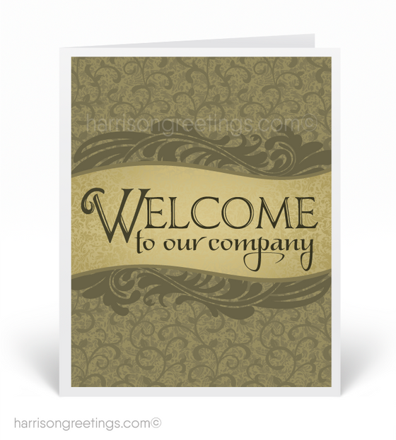 Welcome to Our Company Greeting Card