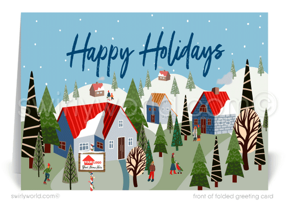 Happy Holidays Merry Christmas Greeting Cards for Realtors®