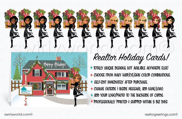 cute holiday christmas cards for realtors real estate agents
