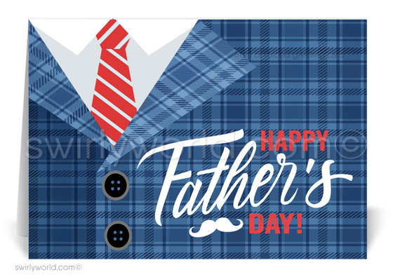 Customer Happy Father's Day Cards for Business