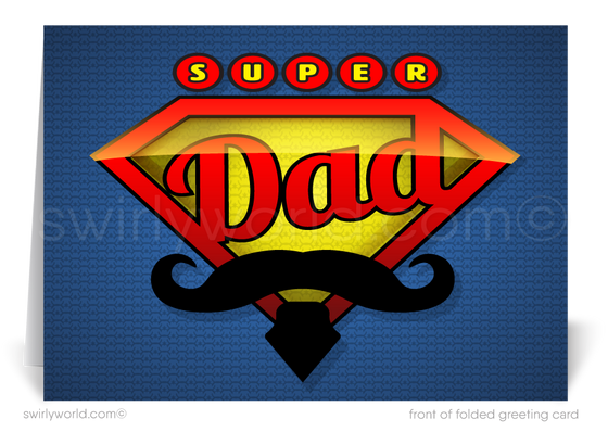 Superhero Dad Business Happy Father's Day Cards for Clients