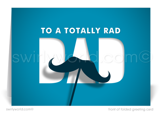 Rad Dad Business Happy Father's Day Cards for Clients