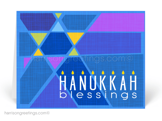 Retro Modern Hanukkah Greeting Cards