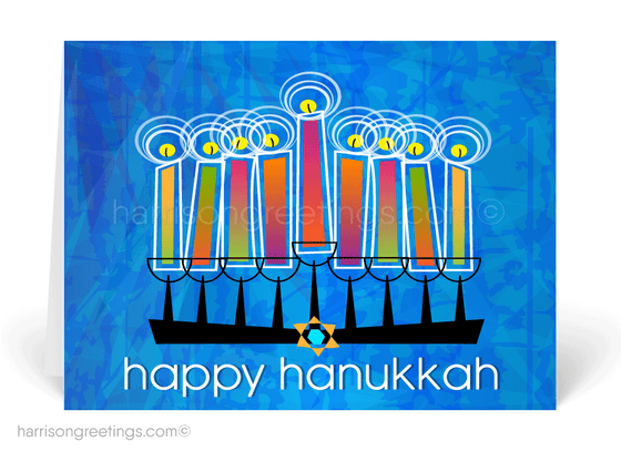Modern Hanukkah Greeting Cards