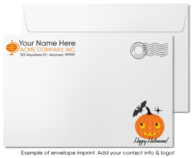 Funny Ghost Humorous Halloween Greeting Cards for Business