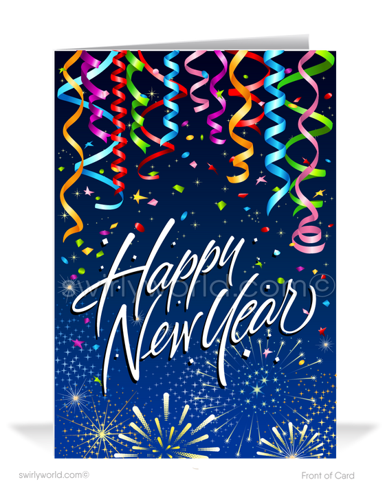 2021 Fun and Festive Happy New Year Greeting Cards