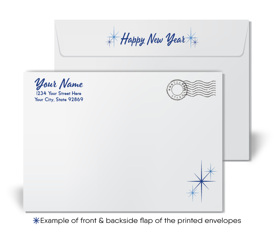 2021 Business Professional Happy New Year Cards for Clients