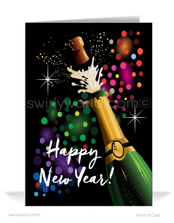 2021 Celebration Happy New Year Greeting Cards