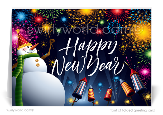 2021 Business Festive Happy New Year Cards for Clients