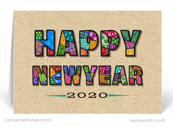 2020 Happy New Year Greeting Cards