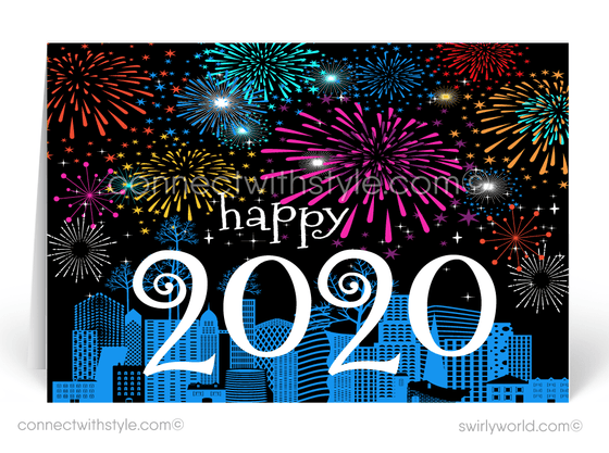 Festive 2020 Happy New Year Cards