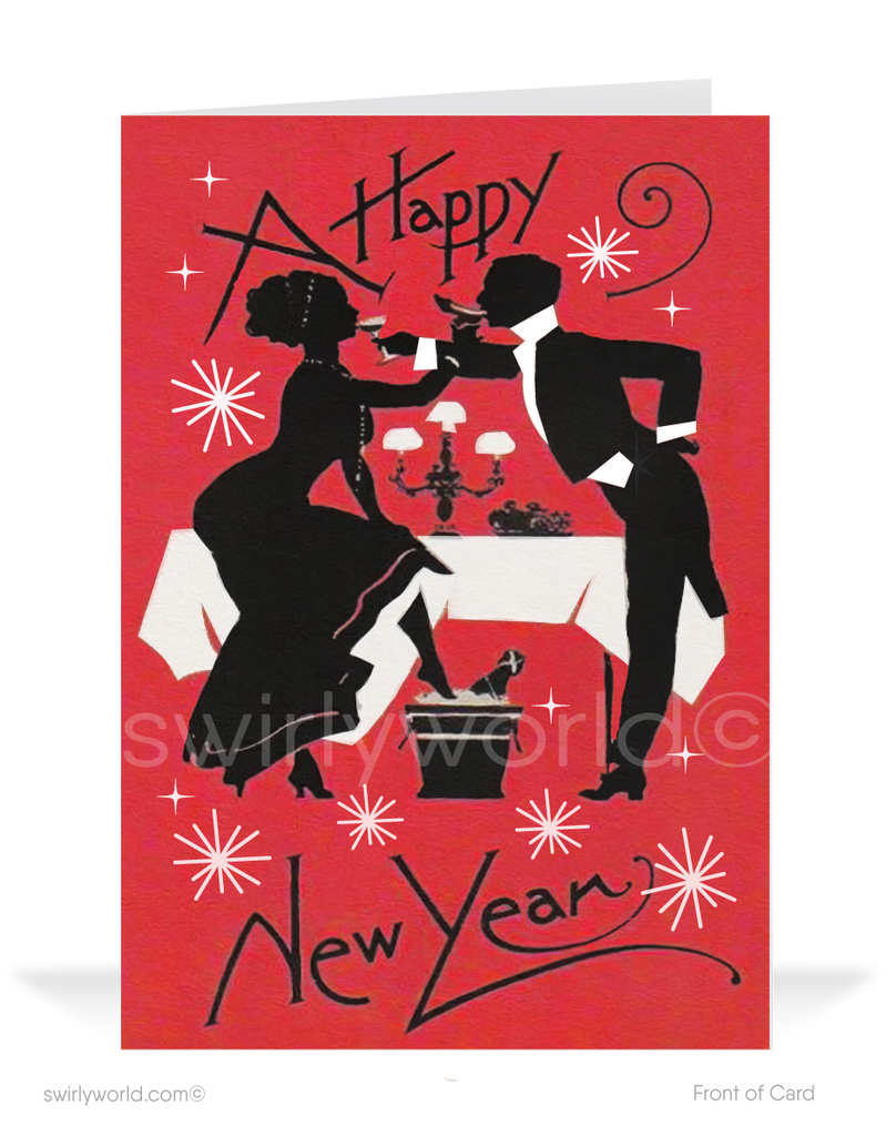 1920s Art Deco Vintage Victorian Happy New Year Cards