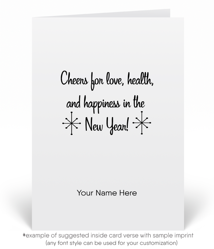 1950s Retro Modern Vintage Happy New Year Cards