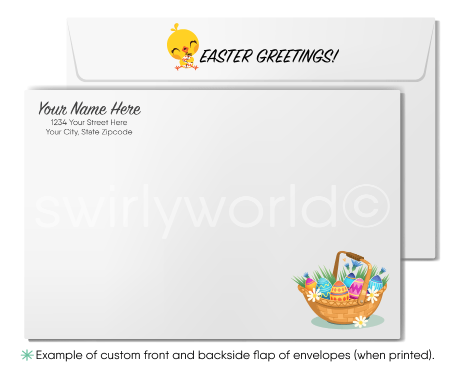 Professional Business Retro Easter Greeting Cards