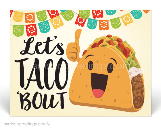 Funny Taco Thank You Postcards for Business