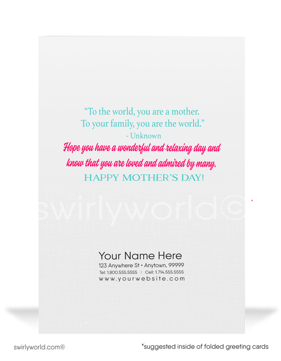 Cute cartoon business happy Mother's Day cards for clients