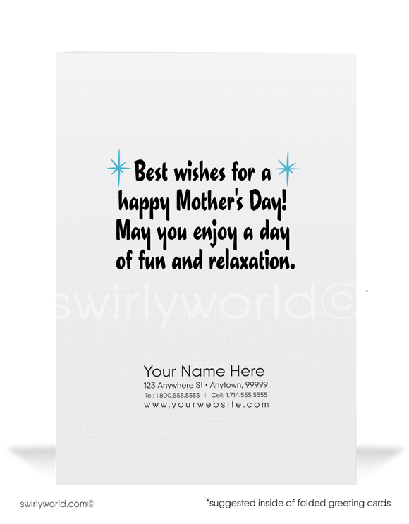 ute funny business happy Mother's Day cards for customers