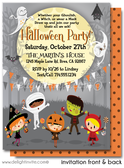 Kid-Friendly Halloween Costume Party Invitations