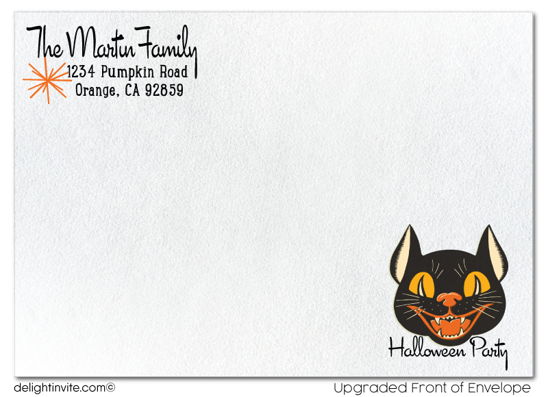 Vintage Child-Friendly 1950s Halloween Invitations