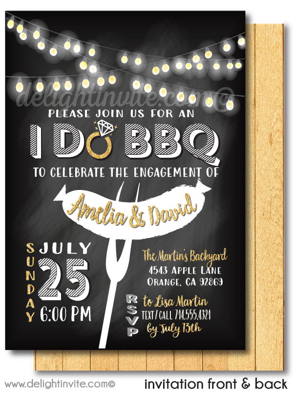 I Do BBQ Engagement Party Invitations, Barbecue Engagement Invites, Backyard Engagement Party Invitations, Engagement Party Ideas