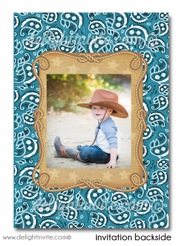 Vintage 1950s Cowboys And Indians Birthday Invitations