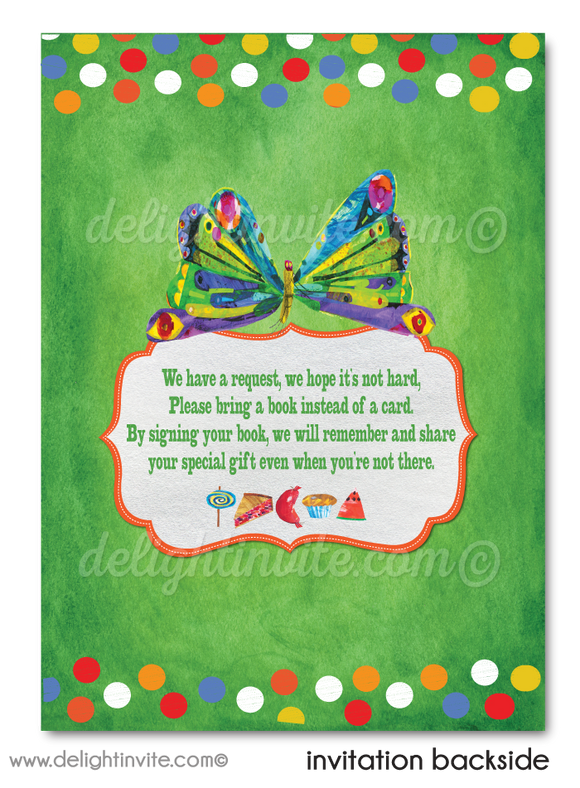 Very Hungry Little Caterpillar 1st Birthday Invitations