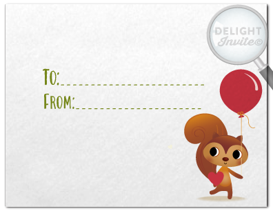 Adorable Squirrel Woodland Printable Valentine's Day Card for Digital Download