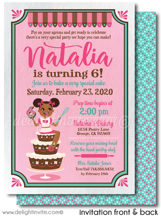 """Little Chef"" Gourmet Cake Baking Cooking Theme Party for Girls"